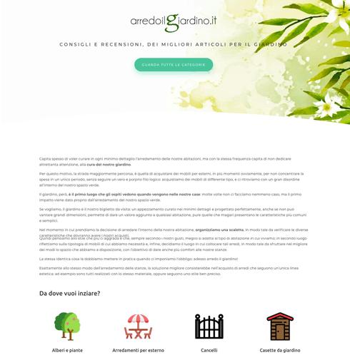 Sito web di giardinaggio