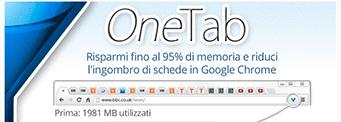 risparmia fino al 95% di memoria, web design, estensione google chrome