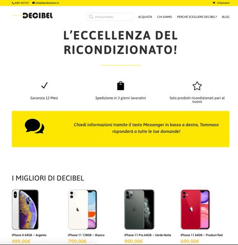 Decibel Store, ecommerce di prodotti ricondizionati