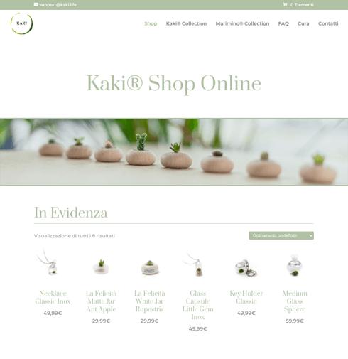 Realizzazione ecommerce di piante grasse in miniatura