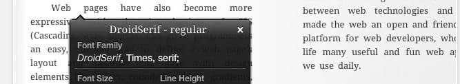 ricerca web font, web design, estensione google chrome