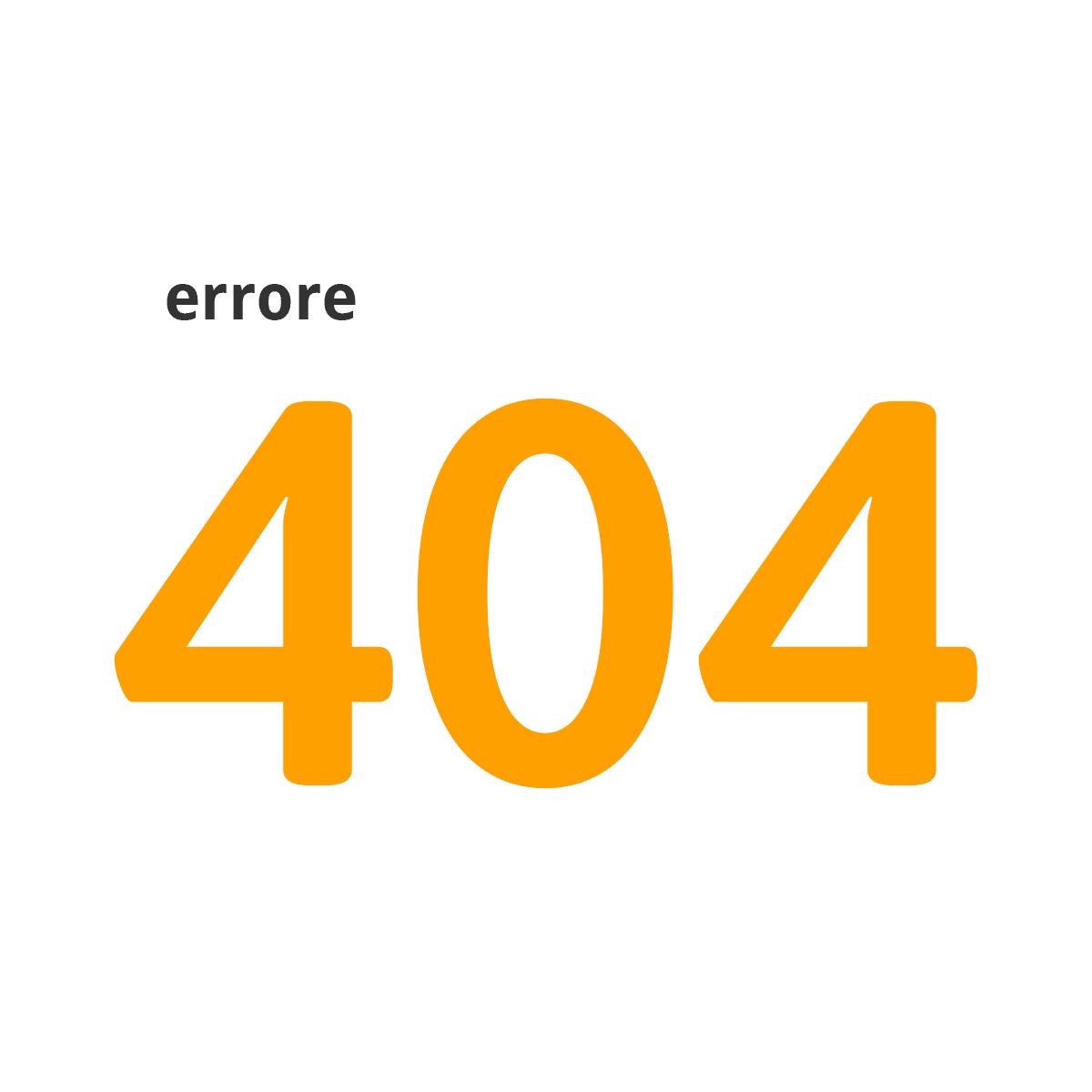 Errore 404, come risolverlo